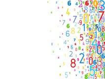 Fundo do vetor dos números Imagens de Stock Royalty Free
