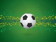 Fundo do vetor no conceito da bandeira de Brasil Imagens de Stock Royalty Free