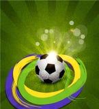 Fundo do vetor no tema do futebol Fotos de Stock Royalty Free