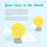 Fundo do vetor sobre ideias em tecnologias da nuvem Fotografia de Stock Royalty Free