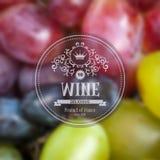Fundo do vinho da uva ilustração stock