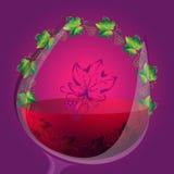 Fundo do vinho do vetor com ornamento redondo Imagens de Stock Royalty Free
