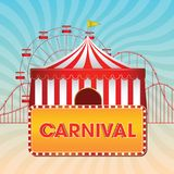 Fundo do vintage do carnaval, cartaz, ilustração do vetor ilustração do vetor