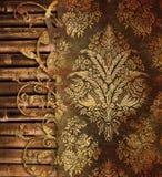 Fundo do vintage com bambu Fotos de Stock
