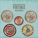 Fundo do vintage com círculos Fotografia de Stock Royalty Free