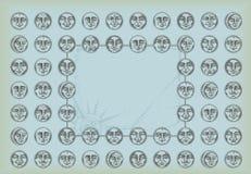 fundo do vintage com faces do círculo e espaço f Fotos de Stock Royalty Free