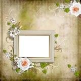 Fundo do vintage com frame ilustração royalty free