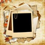 Fundo do vintage com frame do polaroid Fotografia de Stock Royalty Free