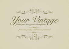 Fundo do vintage com ornamento Imagem de Stock Royalty Free