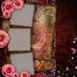 Fundo do vintage com rosas Fotos de Stock