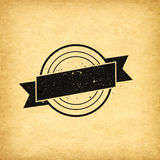 Fundo do vintage da etiqueta do emblema Foto de Stock