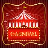 Fundo do vintage do carnaval, cartaz, ilustração do vetor ilustração stock