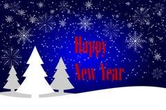 Fundo do vintage do Feliz Natal e do ano novo feliz com tipografia ilustração stock