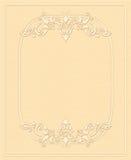 Fundo do vintage, papel gravado, cartão antigo, convite com ornamento florais Fotos de Stock