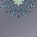 Fundo do vintage Teste padrão floral redondo bonito no estilo do grunge Pode ser usado como o cartão ou o convite ilustração stock