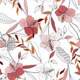 Fundo do vintage wallpaper Flowe isolado realístico de florescência ilustração royalty free