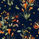 Fundo do vintage wallpaper Mão desenhada Ilustração do vetor ilustração royalty free
