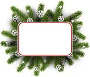 Fundo do White Christmas com ramos spruce Foto de Stock Royalty Free