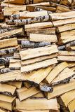 Fundo do Woodpile Fotografia de Stock Royalty Free