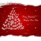 Fundo do Xmas com a ?rvore de Natal abstrata. Imagens de Stock Royalty Free