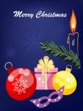 Fundo do xmas do feriado, Imagens de Stock Royalty Free