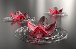 Fundo do zen. Lírios de água abstratos, espaço da cópia Foto de Stock