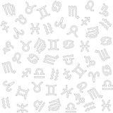 Fundo do zodíaco Imagem de Stock Royalty Free