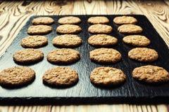 Fundo doce da cookie do biscoito Biscoito empilhado doméstico da manteiga Fotografia de Stock Royalty Free