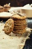 Fundo doce da cookie do biscoito Biscoito empilhado doméstico da manteiga Imagens de Stock