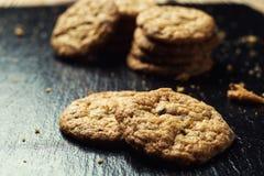 Fundo doce da cookie do biscoito Biscoito empilhado doméstico da manteiga Imagem de Stock Royalty Free