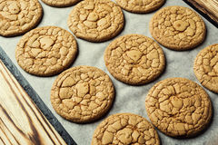 Fundo doce da cookie do biscoito Biscoito empilhado doméstico da manteiga Fotos de Stock