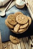 Fundo doce da cookie do biscoito Biscoito empilhado doméstico da manteiga Fotografia de Stock