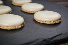 Fundo doce da cookie do biscoito Biscoito empilhado doméstico da manteiga Imagens de Stock Royalty Free