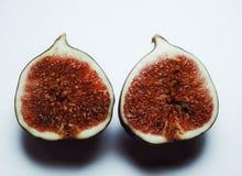 fundo doce do branco do close-up do alimento do fruto dos figos Fotos de Stock Royalty Free