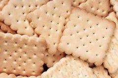 Fundo doce do craker da cookie do biscoito Conceito empilhado doméstico do teste padrão do biscoito da manteiga Os biscoitos text Fotos de Stock