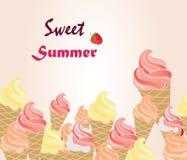 Fundo doce do verão Ilustração do Vetor