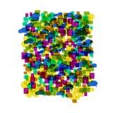Fundo dos ícones do discurso da bolha do colorfull do vetor ilustração do vetor