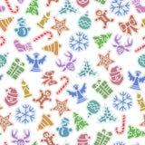 Fundo dos ícones do Natal ilustração stock