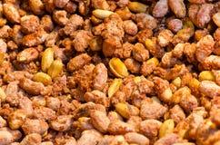 Fundo dos amendoins Fotos de Stock Royalty Free