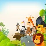 Fundo dos animais dos animais selvagens Fotografia de Stock