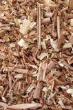 Fundo dos aparas de madeira Foto de Stock