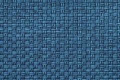 Fundo dos azuis marinhos com teste padrão quadriculado, close up Estrutura do macro da tela fotografia de stock royalty free