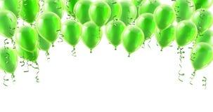 Fundo dos balões do Partido Verde ilustração royalty free
