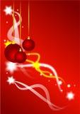 Fundo dos Baubles e das estrelas do Natal Fotos de Stock Royalty Free