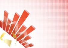 Fundo dos busines do vetor com globo do ouro Imagens de Stock Royalty Free