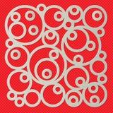 Fundo dos círculos em uma carcaça quadrada Imagens de Stock