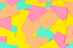 Fundo dos cartões coloridos Foto de Stock