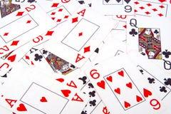 Fundo dos cartões de jogo Fotos de Stock Royalty Free