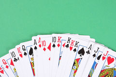 Fundo dos cartões de jogo do póquer Imagens de Stock Royalty Free