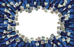 Fundo dos conectores da rede imagens de stock royalty free